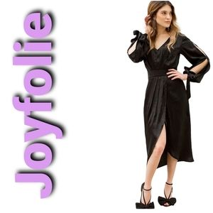 NWT! Joyfolie Mia Joy Marcella Dress In Black S